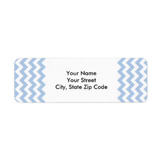 Light Blue and White Zigzag return address label
