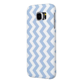 Light Blue and White Zigzag Samsung Galaxy S6 Case