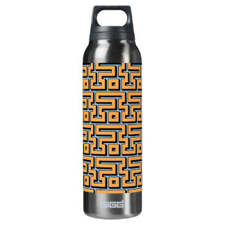 Light blue and yellow pastel maze SIGG thermo 0.5L insulated bottle