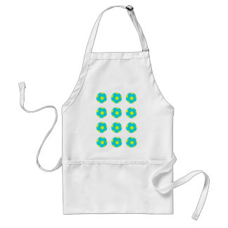 Light Blue and Yellow Soccer Ball Pattern Aprons
