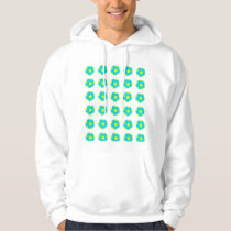 Light Blue and Yellow Soccer Ball Pattern Hoodie