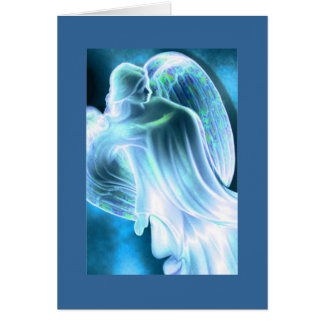 Light Blue Angel Greeting Card