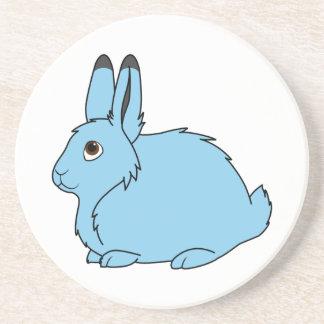 Light Blue Arctic Hare Drink Coaster