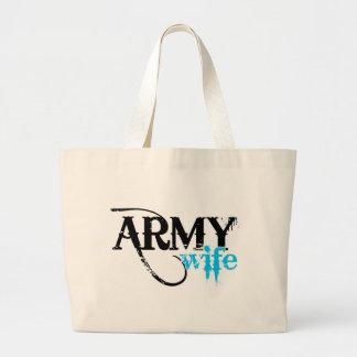 Light Blue Army Wife Canvas Bag
