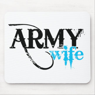 Light Blue Army Wife Mouse Mats