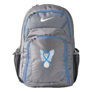 Light Blue Awareness Ribbon Angel Backpack