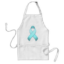 Light Blue Awareness Ribbon Apron