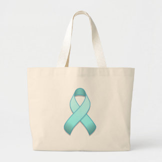 Light Blue Awareness Ribbon Bag