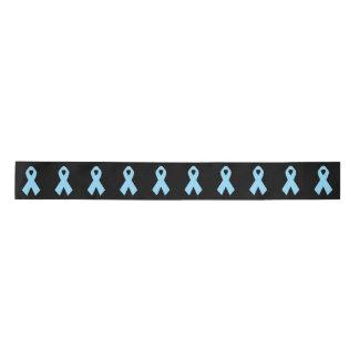 Light Blue Awareness Ribbon black Satin Ribbon