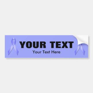 Light Blue Awareness Ribbon Bumper Sticker 3 Car Bumper Sticker
