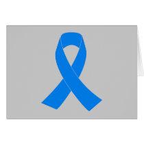 Light Blue Awareness Ribbon Card