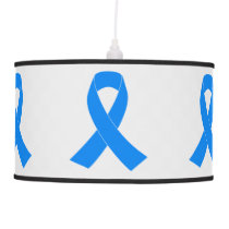 Light Blue Awareness Ribbon Ceiling Lamp
