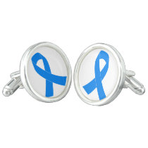 Light Blue Awareness Ribbon Cufflinks