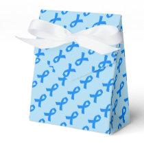 Light Blue Awareness Ribbon Favor Box
