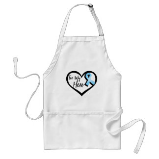 Light Blue Awareness Ribbon For My Hero Adult Apron