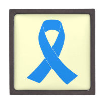 Light Blue Awareness Ribbon Gift Box