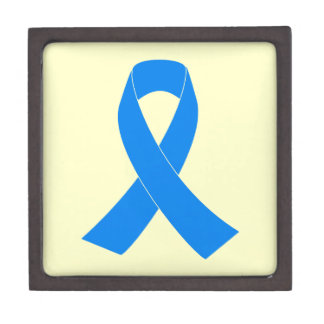 Light Blue Awareness Ribbon Gift Box