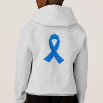 Light Blue Awareness Ribbon Hoodie