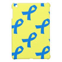 Light Blue Awareness Ribbon iPad Mini Cover