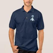 Light Blue Awareness Ribbon Lighthouse of Hope Polo Shirt