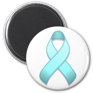 Light Blue Awareness Ribbon Magnet
