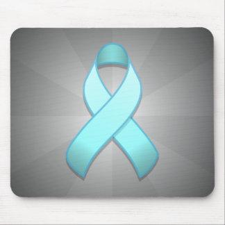 Light Blue Awareness Ribbon Mousepad