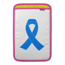 Light Blue Awareness Ribbon Sleeve For MacBook Air