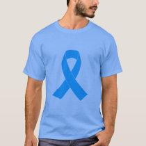 Light Blue Awareness Ribbon T-Shirt