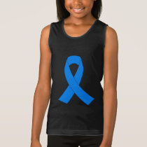 Light Blue Awareness Ribbon Tank Top