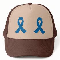 Light Blue Awareness Ribbon Trucker Hat