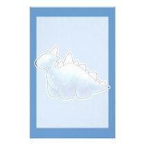 Light Blue Baby Dinosaur Stationery