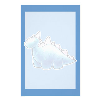 Light Blue Baby Dinosaur Customized Stationery