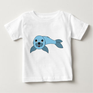 Light Blue Baby Seal Baby T-Shirt