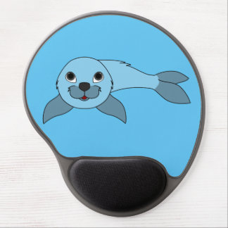 Light Blue Baby Seal Gel Mouse Pad