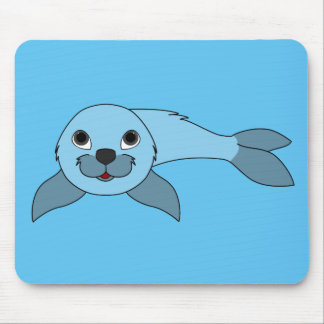 Light Blue Baby Seal Mouse Pad