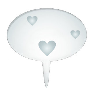 Light blue background with hearts cake topper