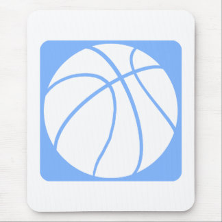 Light blue basketball mouse pad