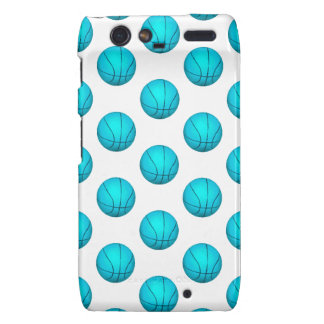 Light Blue Basketball Pattern Droid RAZR Covers