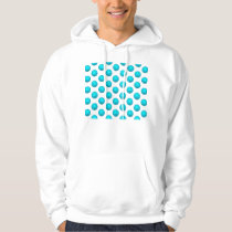 Light Blue Basketball Pattern Hoodie