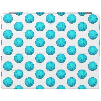 Light Blue Basketball Pattern iPad Cover