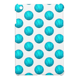 Light Blue Basketball Pattern iPad Mini Cases