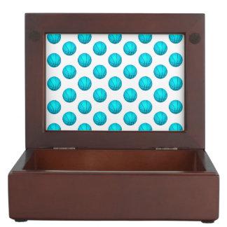 Light Blue Basketball Pattern Memory Box