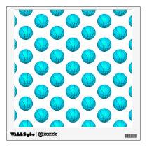 Light Blue Basketball Pattern Wall Decal
