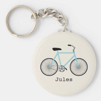 Light Blue Bicycle Keychain