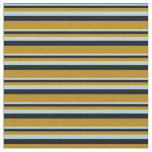 [ Thumbnail: Light Blue, Black, and Dark Goldenrod Colored Fabric ]