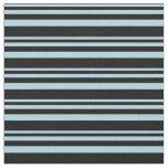 [ Thumbnail: Light Blue & Black Colored Stripes Pattern Fabric ]