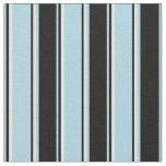 [ Thumbnail: Light Blue, Black & Light Cyan Colored Lines Fabric ]