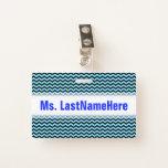 [ Thumbnail: Light Blue & Black Wave Pattern + Teacher Name Badge ]