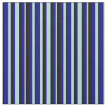 [ Thumbnail: Light Blue, Blue & Black Colored Stripes Fabric ]