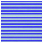 [ Thumbnail: Light Blue & Blue Striped/Lined Pattern Fabric ]